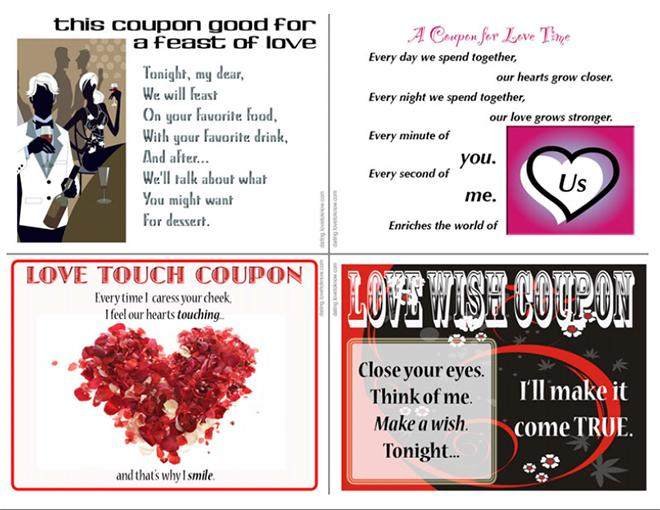 Love Coupons For Valentines Day