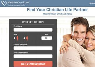 Screenshot of Christiancupid.com
