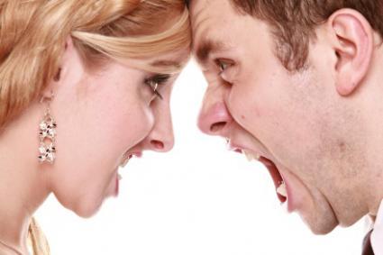 Couple yelling