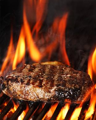 Flame grilled steak