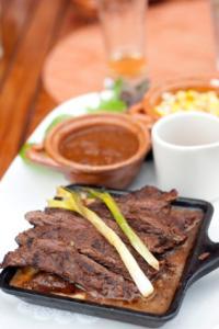 Steak and salsa