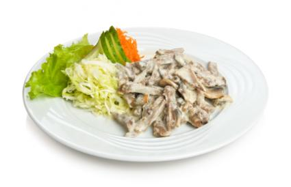 Beef Stroganoff with Greens