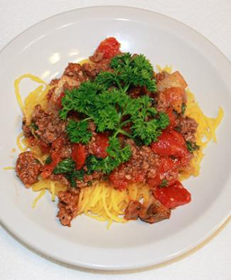 low carb spaghetti with meat sauce