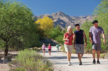 Canyon Ranch Tucson Walking Path | Photo © Canyon Ranch