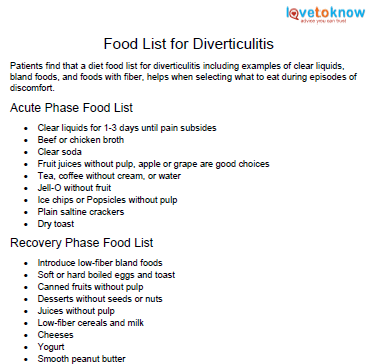 Food That Is Good For Diverticulitis