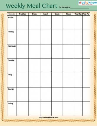 Printable Weight Loss Charts