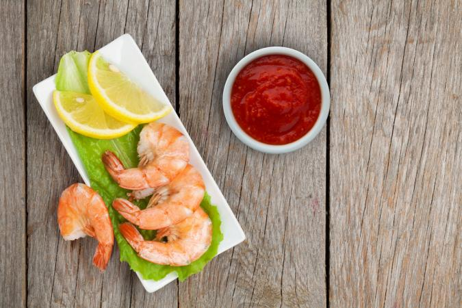 Shrimp with coctail sauce