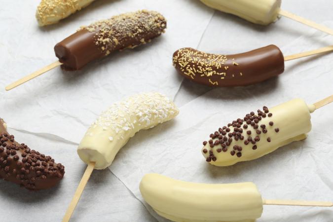 chocolate covered frozen banana