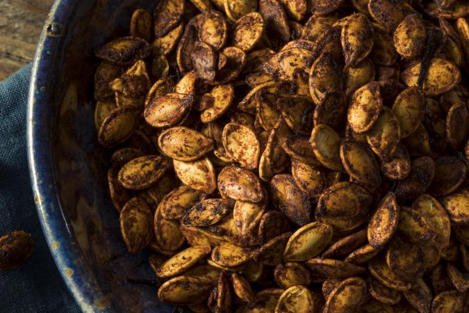 spiced roasted pumpkin seeds