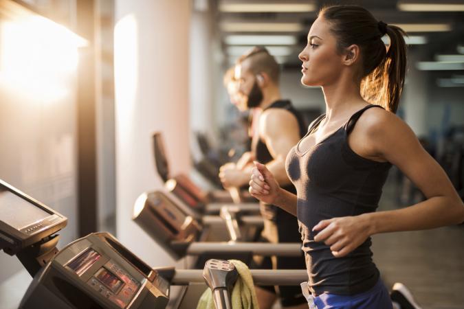 people on treadmills