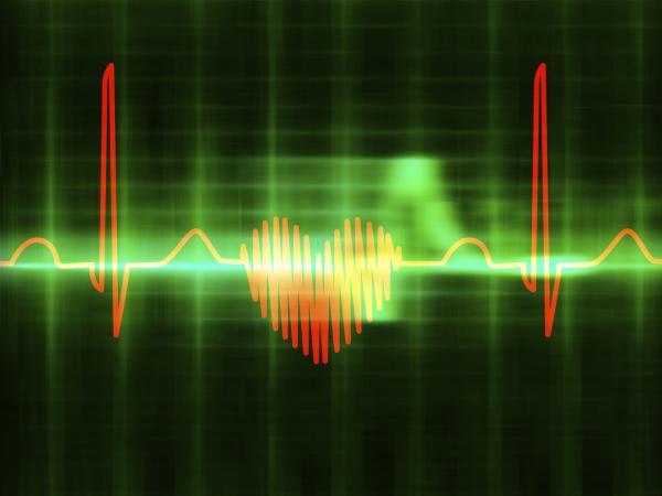 Heart-shaped ECG trace