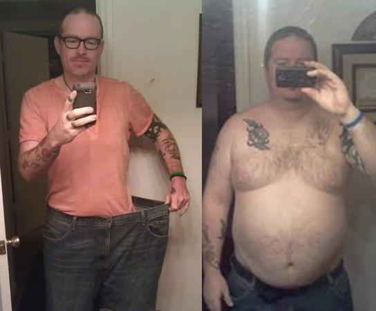 Before and after photo of Craig Munhall