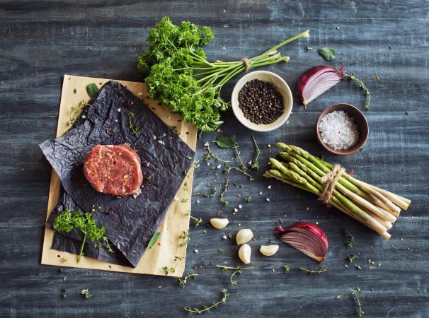 Raw tenderloin steak