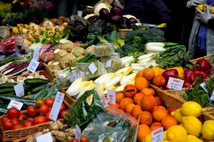 Shop for fresh produce.