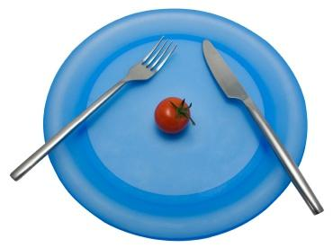 plate with one tomato