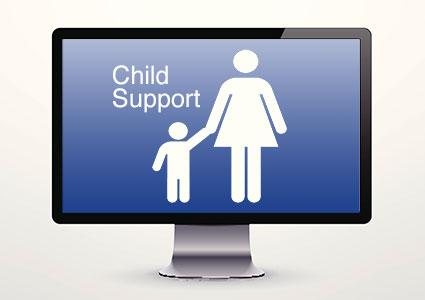 Checking child support payments online