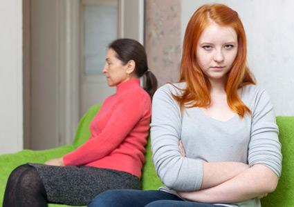 Teenager and parent in disagreement