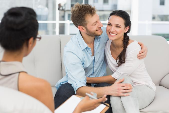 reconciling couple in counseling