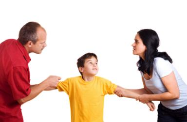 couple fighting over child