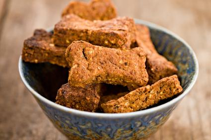 Crunchy homemade dog biscuits