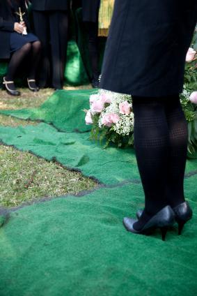 Standing graveside