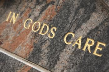 Religious inscription on a headstone