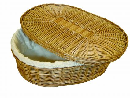 Natural Choice eco-friendly woven willow pet coffin