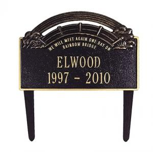 Pet Heaven Express Rainbow Bridge Grave Marker
