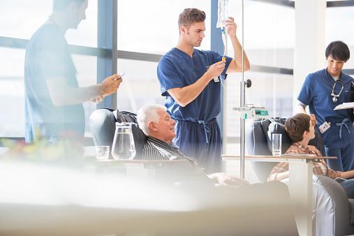 attending patients