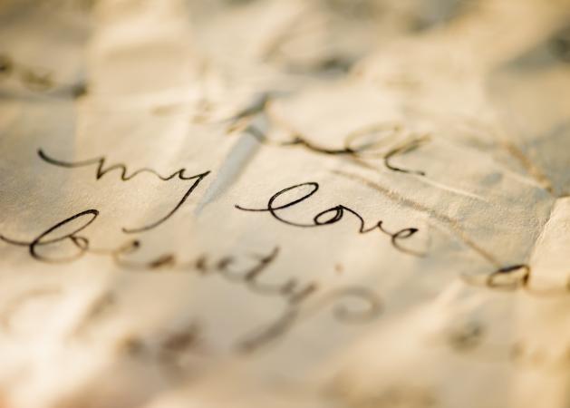 love letter on parchment