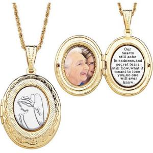 Two Tone Memorial Angel Locket