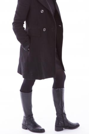 casual black rain boots