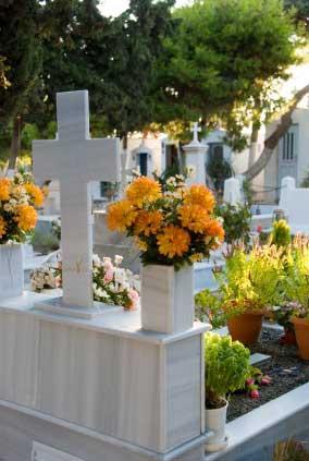 Cemetary Flower Vase