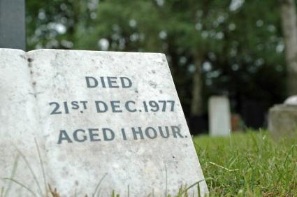 Baby's headstone
