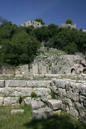 Roman ruins in Albania