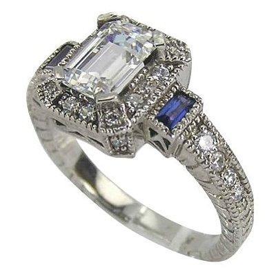 antique style diamond rings