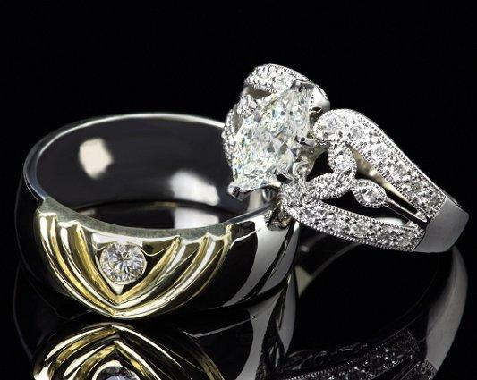 unique his and hers wedding ring band photos slideshow