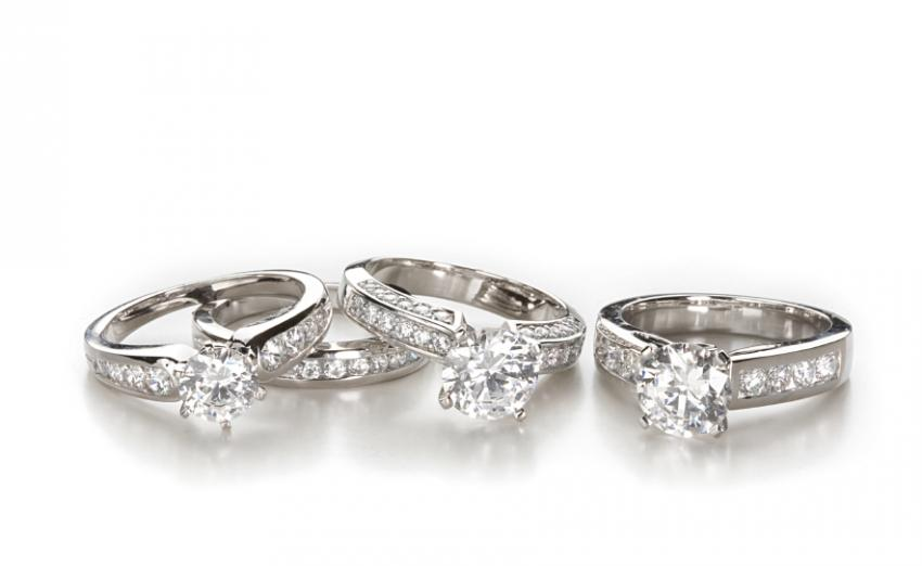 Photos Of Moissanite Engagement Rings And Wedding Bands Slideshow