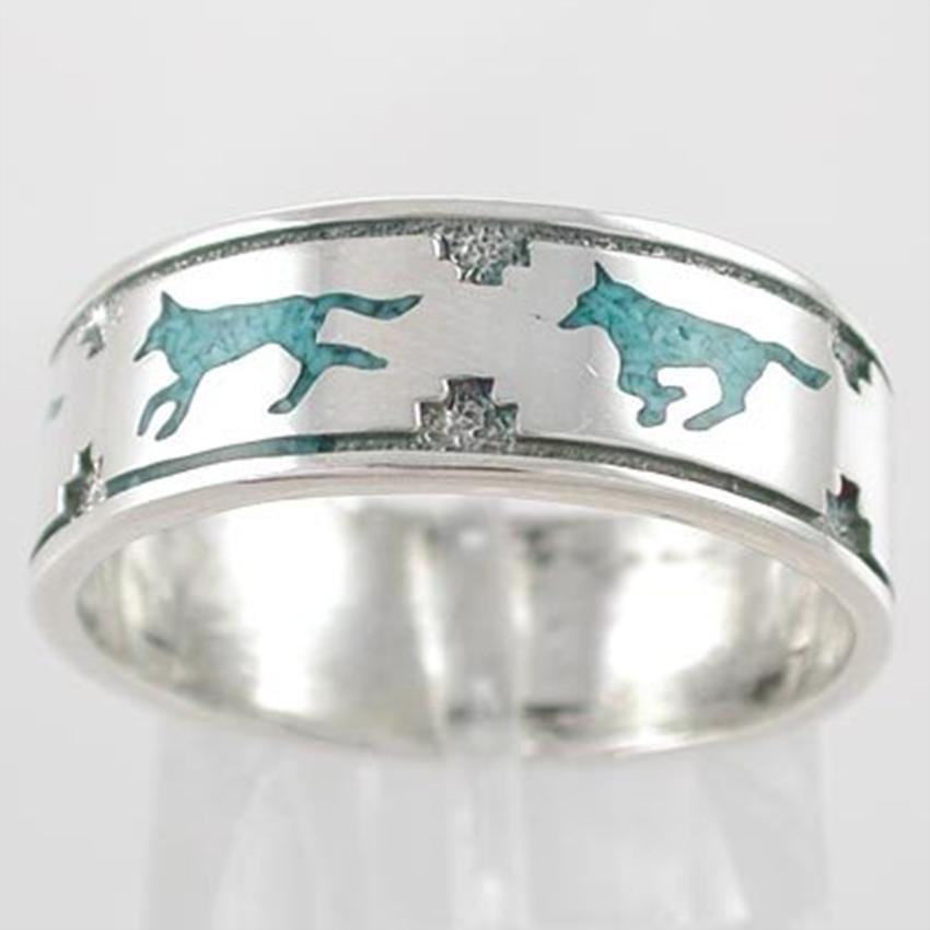 wolf band - Western Style Wedding Rings
