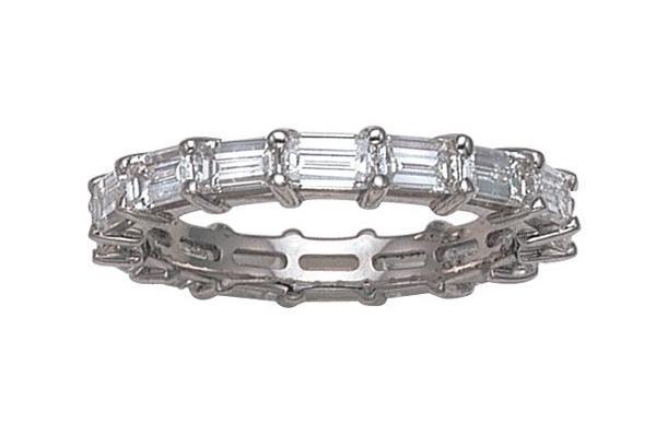 delicate horizontal emerald cut band - Emerald Cut Wedding Ring