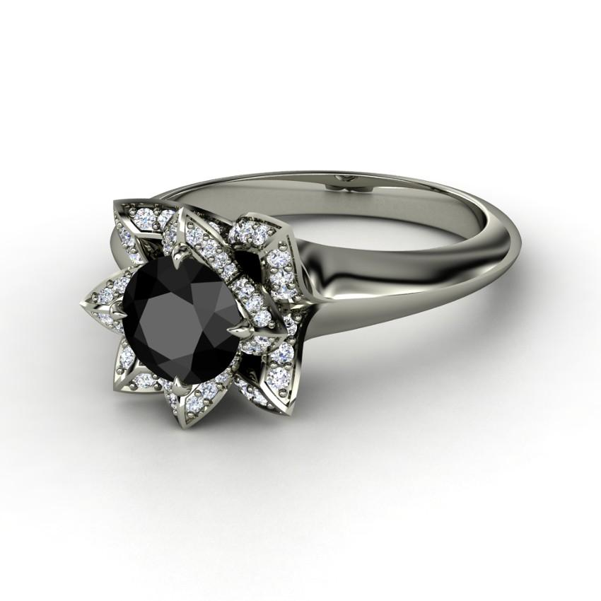 black engagement rings slideshow