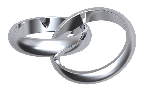 plain silver bands - Interlocking Wedding Rings