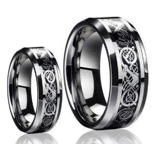 contrasting celtic knot ring bands source irish culture wedding ring set - Irish Wedding Ring Sets