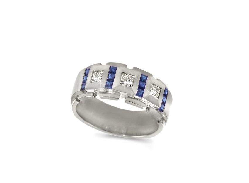 platinum with sapphires - Platinum Wedding Rings