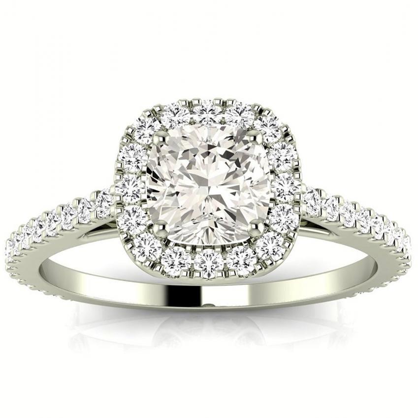halo engagement bridal ring - Big Wedding Rings
