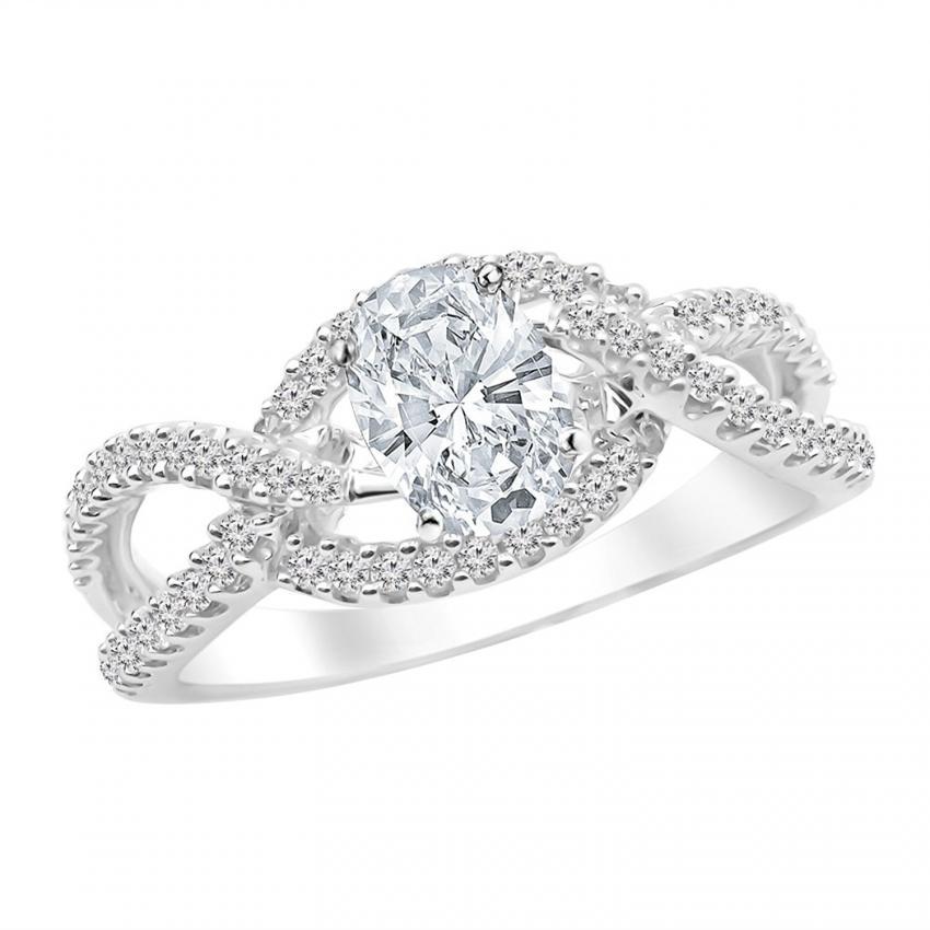 split shank diamond ring on amazoncom - Big Diamond Wedding Rings