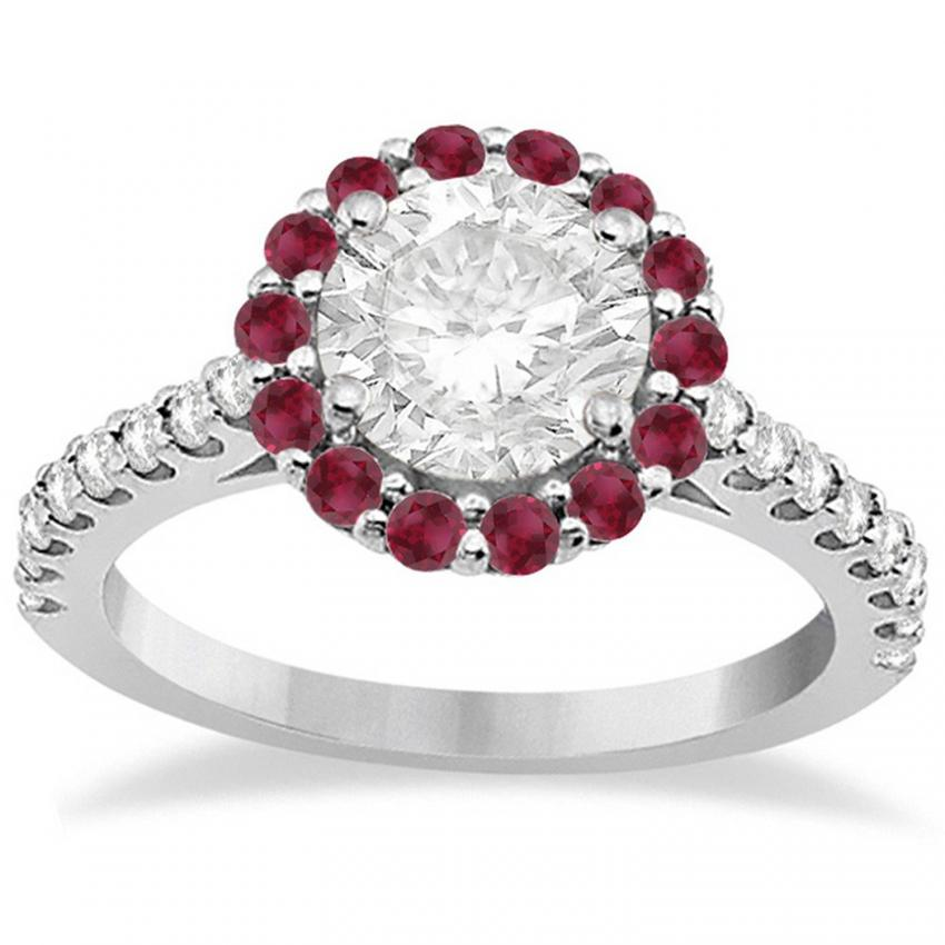 Ruby-Accented Halo ring