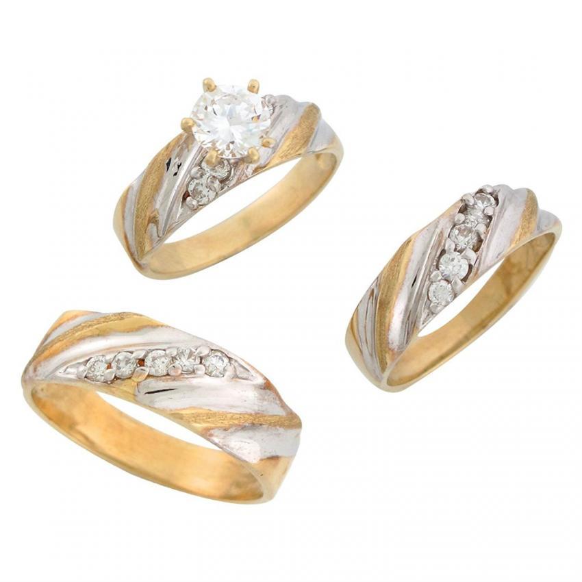 Two Tone Engagement Ring Photos Slideshow