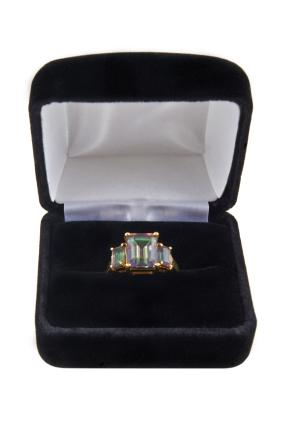 Mystic green topaz ring