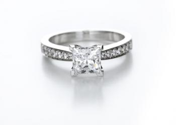 princess cut solitaire engagement ring - Sears Wedding Rings